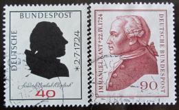Poštovní známky Nìmecko 1974 Osobnosti Mi# 806,809
