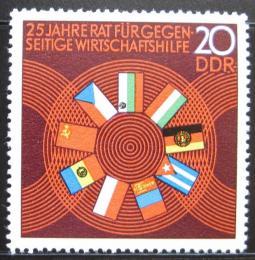 Poštovní známka DDR 1974 Vlajky èlenù COMECON Mi# 1918
