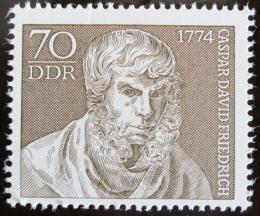 Poštovní známka DDR 1974 Caspar David Friedrich, malíø Mi# 1962