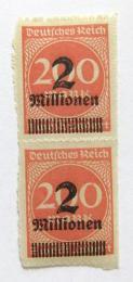 Poštovní známky Nìmecko 1923 Nominál, pøetisk Mi# 309