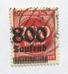 Poštovní známka Nìmecko 1923 Nominál, pøetisk Mi# 303 Kat 100€