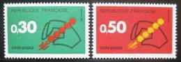 Poštovní známky Francie 1972 Uvedení PSÈ Mi# 1795-96