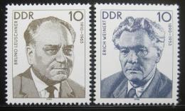 Poštovní známky DDR 1990 Osobnosti Mi# 3300-01