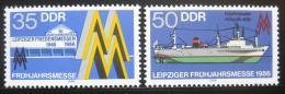 Poštovní známky DDR 1986 Lipský veletrh Mi# 3003-04