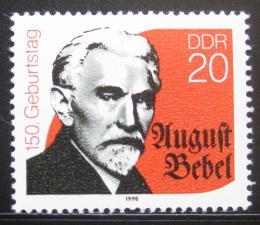 Poštovní známka DDR 1990 August Bebel, politik Mi# 3310