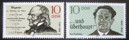 Poštovní známky DDR 1990 Slavní muži Mi# 3320-21