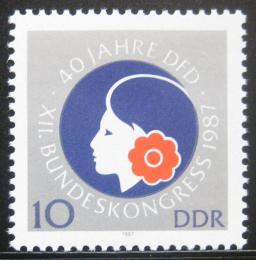 Poštovní známka DDR 1987 Federace žen Mi# 3079
