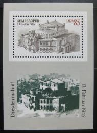 Poštovní známka DDR 1985 Drážïanská opera Mi# Block 80