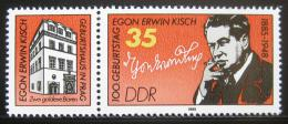 Poštovní známka DDR 1985 Egon Erwin Kisch, novináø Mi# 2940