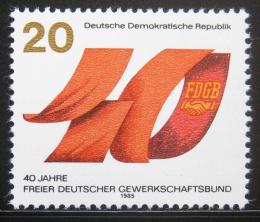 Poštovní známka DDR 1985 Odborová organizace Mi# 2951