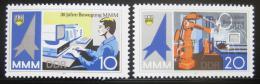 Poštovní známky DDR 1987 Veletrh mládeže Mi# 3132-33