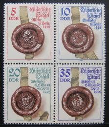 Poštovní známky DDR 1984 Historické peèetì Mi# 2884-87