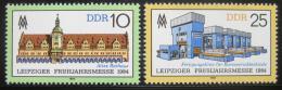Poštovní známky DDR 1984 Lipský veletrh Mi# 2862-63