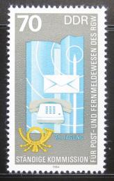 Poštovní známka DDR 1984 Pošta a telekomunice Mi# 2873
