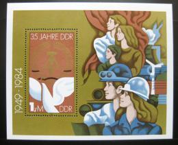 Poštovní známka DDR 1984 Výroèí vzniku republiky Mi# Block 79