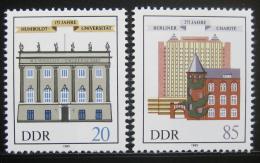 Poštovní známky DDR 1985 Humboldtova univerzita Mi# 2980-81