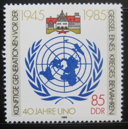 Poštovní známka DDR 1985 OSN, 40. výroèí Mi# 2982