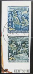 Poštovní známky DDR 1955 Bedøich Engels Mi# 485 B,487 B Kat 20€