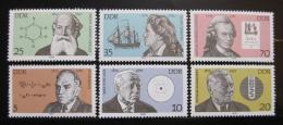 Poštovní známky DDR 1979 Slavní Nìmci Mi# 2406-11