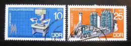 Poštovní známky DDR 1975 Lipský veletrh Mi# 2023-24