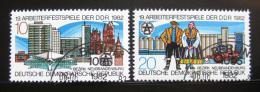 Poštovní známky DDR 1982 Festival pracujících Mi# 2706-07