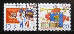 Poštovní známky DDR 1982 Setkání pionýrù Mi# 2724-25