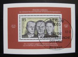 Poštovní známka DDR 1983 Organizace odporu Mi# Block 70