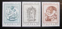 Poštovní známky Itálie 1975 Michelangelova práce Mi# 1483-85