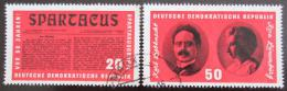 Poštovní známky DDR 1966 Organizace Spartacus Mi# 1154-55