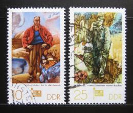 Poštovní známky DDR 1977 Výstava SOZPHILEX Mi# 2247-48