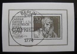 Poštovní známka DDR 1974 Caspar David Friedrich, malíø Mi# Block 40