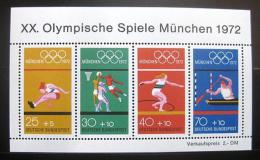 Poštovní známky Nìmecko 1972 LOH Mnichov Mi# Block 8
