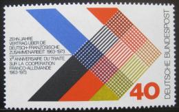Poštovní známka Nìmecko 1973 Pøátelství s Francií Mi# 753
