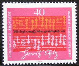 Poštovní známka Nìmecko 1972 Notový zápis, Schutz Mi# 741
