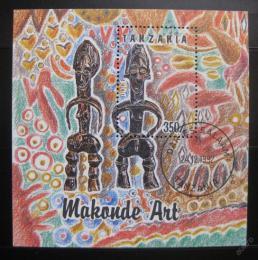 Poštovní známka Tanzánie 1992 Umìní Makonde Mi# Block 208