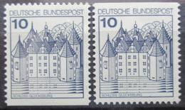 Poštovní známky Nìmecko 1977 Zámek Glucksburg Mi# 913 C-D