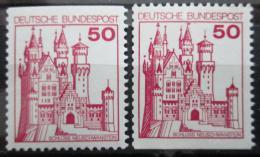 Poštovní známky Nìmecko 1977 Zámek Neuschwanstein Mi# 916 C-D