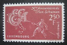 Poštovní známka Lucembursko 1960 Spoleènost uhlí a oceli Mi# 620