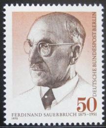 Poštovní známka Západní Berlín 1975 Ferdinand Sauerbruch, chirurg Mi# 492