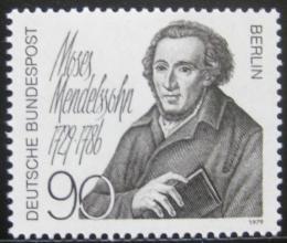 Poštovní známka Západní Berlín 1979 Moses Mendelssohn, filozof Mi# 601