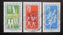 Poštovní známky DDR 1963 Gymnastika Mi# 963-65