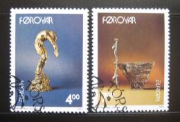 Poštovní známky Faerské ostrovy 1993 Evropa CEPT, sochy Mi# 248-49