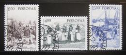 Poštovní známky Faerské ostrovy 1995 Život na vesnici Mi# 285-87