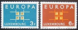 Poštovní známky Lucembursko 1963 Evropa CEPT Mi# 680-81