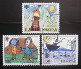 Poštovní známky Faerské ostrovy 1979 Dìtské kresby Mi# 45-47