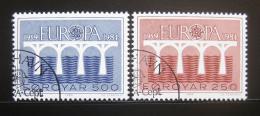 Poštovní známky Faerské ostrovy 1984 Evropa CEPT Mi# 97-98