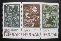 Poštovní známky Faerské ostrovy 1984 Pohádky,tripl Mi# 108-10 Kat 16€