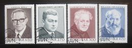 Poštovní známky Faerské ostrovy 1988 Spisovatelé Mi# 168-71