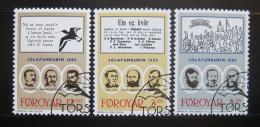 Poštovní známky Faerské ostrovy 1988 Vánoèní setkání Mi# 172-74