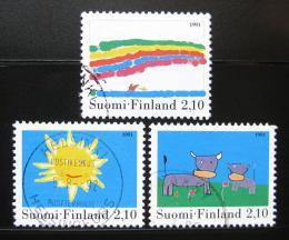 Poštovní známky Finsko 1991 Dìtské kresby Mi# 1149-51